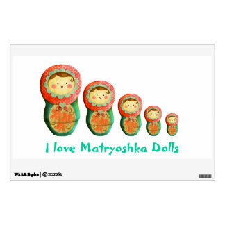 Russian Matryoshka Doll Wall Sticker