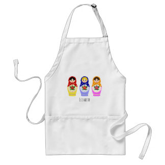 Russian matryoshka dolls adult apron