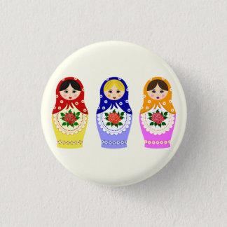 Russian matryoshka dolls button