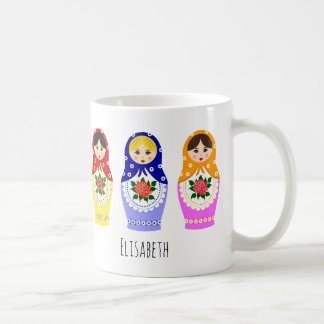 Russian matryoshka dolls coffee mug