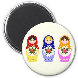 Russian matryoshka dolls magnet
