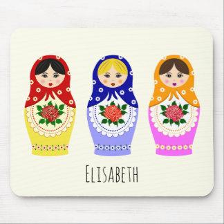Russian matryoshka dolls mouse pad