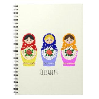 Russian matryoshka dolls notebook