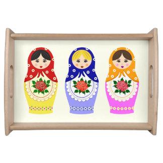 Russian matryoshka dolls serving tray