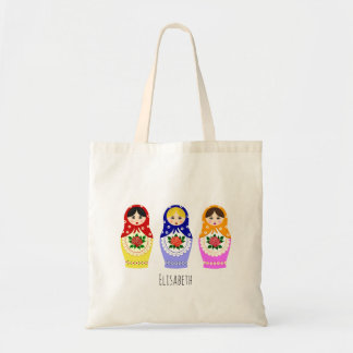 Russian matryoshka dolls tote bag