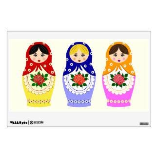 Russian matryoshka dolls wall decal