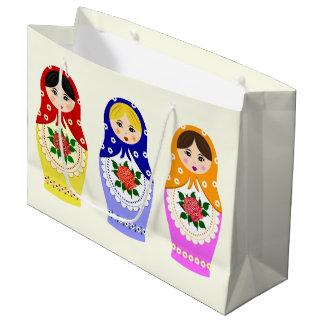 Russian matryoshka nesting dolls large gift bag