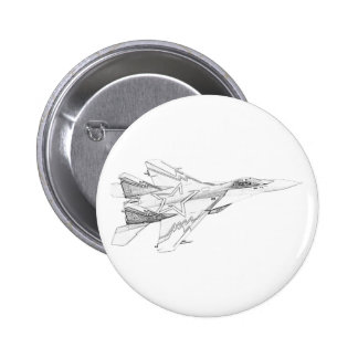 Russian MiG jet fighter aircraft Button