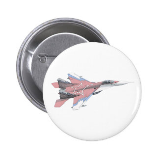 Russian MiG jet fighter aircraft Pinback Button
