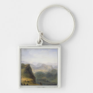 Russian Military Camp in Dagestan, 1895 Keychain
