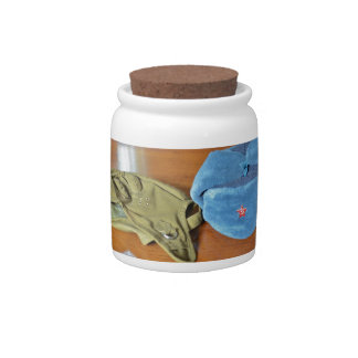 Russian Military Hats Candy Jars