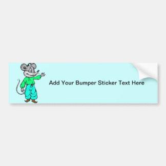 Russian Mouse Bumper Sticker