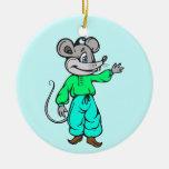Russian Mouse Ceramic Ornament