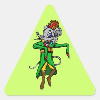Russian Mouse Mice Triangle Sticker