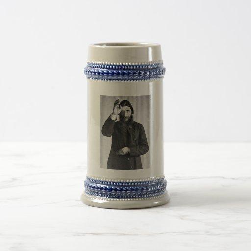 Russian Mystic Grigori Yefimovich Rasputin 18 Oz Beer Stein
