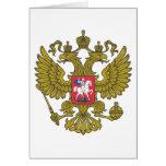 Russian national emblem card