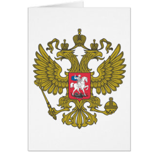 Russian national emblem card
