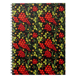 Russian national pattern notebook