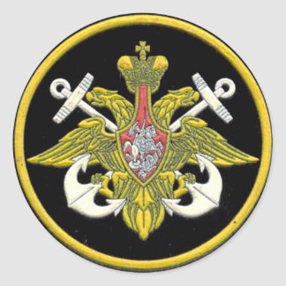 Russian Navy patch Classic Round Sticker