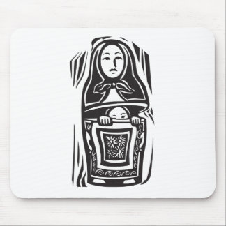 Russian Nested Doll Mouse Pad