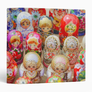 Russian Nested Dolls 3 Ring Binder