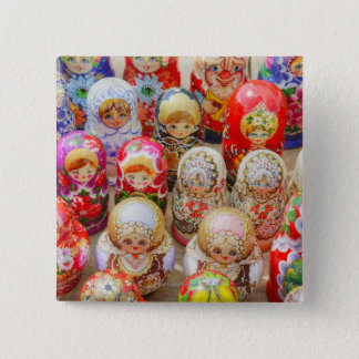 Russian Nested Dolls Button