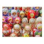 Russian Nested Dolls Postcard