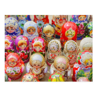 Russian Nested Dolls Postcard