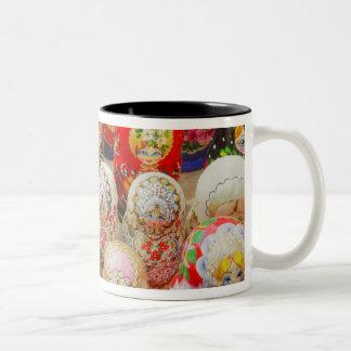 Russian Nested Dolls Two-Tone Coffee Mug