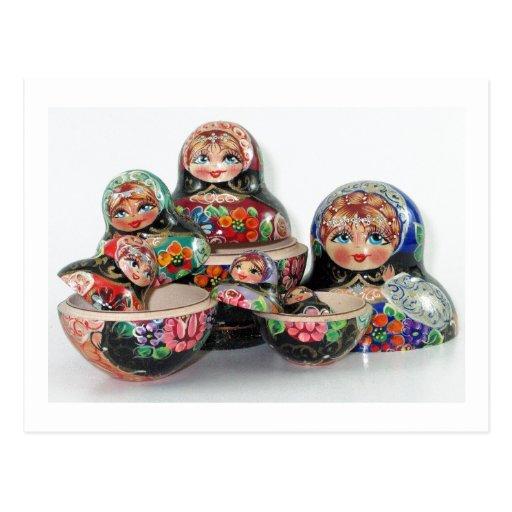 Russian Nesting Doll Postcard