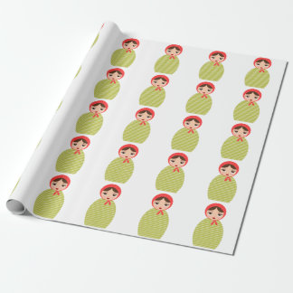 Russian Nesting Doll Wrapping Paper