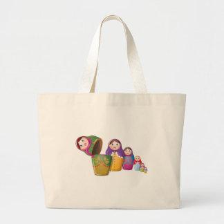 Russian Nesting Dolls Jumbo Tote Bag
