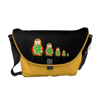 Russian nesting dolls messenger bag