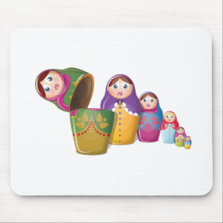 Russian Nesting Dolls Mouse Pad