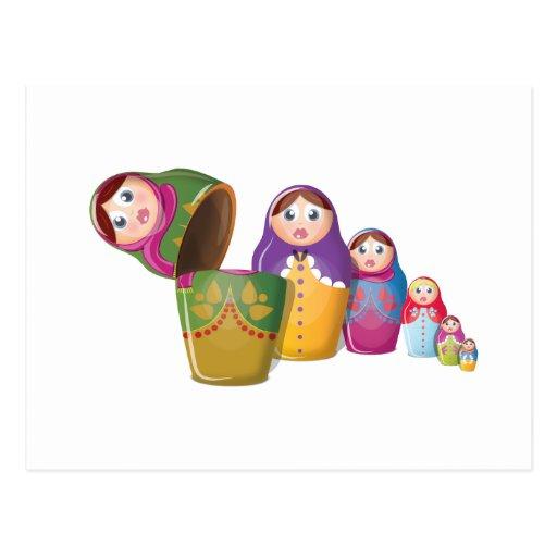 Russian Nesting Dolls Postcards