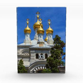 Russian or orthodox church, Geneva, Switzerland Acrylic Award