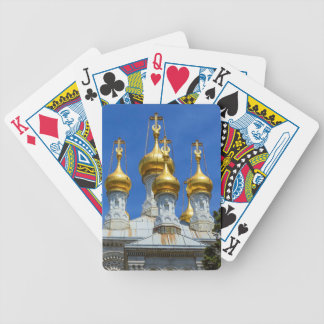 Russian or orthodox church, Geneva, Switzerland Bicycle Playing Cards
