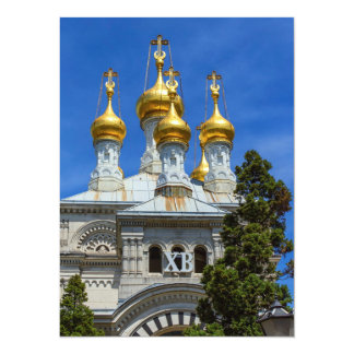 Russian or orthodox church, Geneva, Switzerland Card