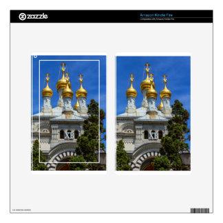 Russian or orthodox church, Geneva, Switzerland Kindle Fire Skin