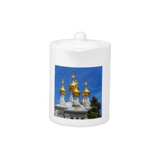 Russian or orthodox church, Geneva, Switzerland Teapot