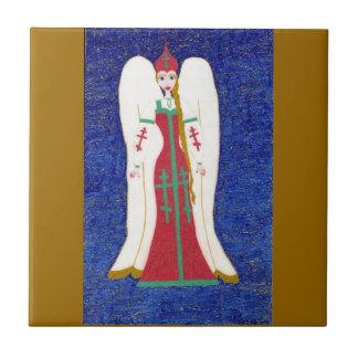 Russian Orthodox Angel Tile