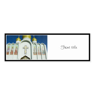Russian Orthodox Church Double-Sided Mini Business Cards (Pack Of 20)