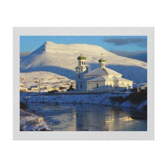 Russian Orthodox Church in Winter Canvas Print