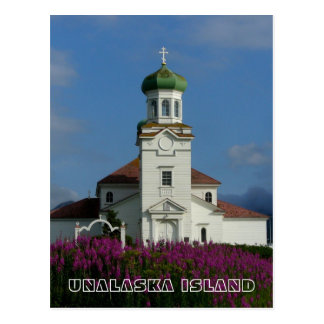 Russian Orthodox Church~ Unalaska, AK Postcard