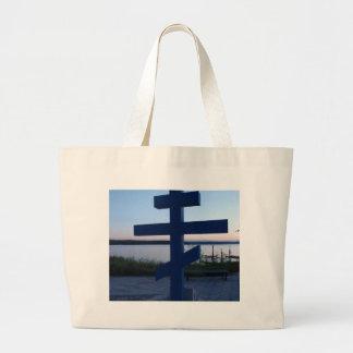 Russian Orthodox Cross Canvas Bag
