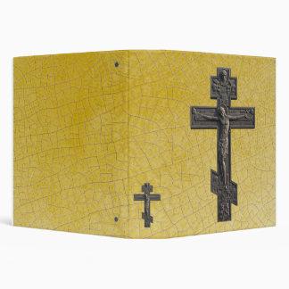Russian orthodox cross 3 ring binders
