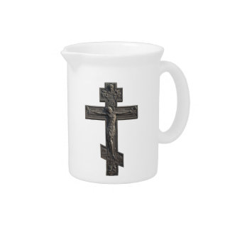 Russian orthodox cross drink pitcher