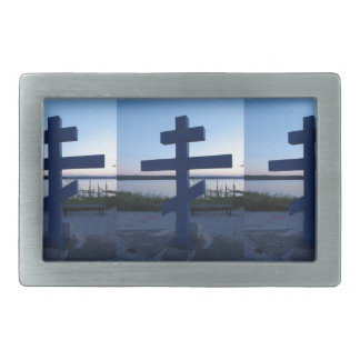 Russian Orthodox Cross Rectangular Belt Buckle