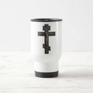 Russian orthodox cross travel mug