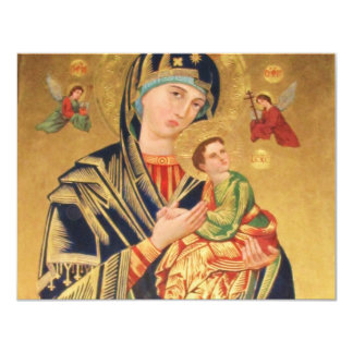 Russian Orthodox Icon - Virgin Mary and baby Jesus 4.25x5.5 Paper Invitation Card